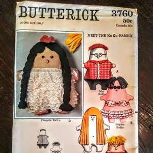 Vintage BUTTERICK #3760 Sewing Pattern/ UNCUT